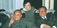 邓小平和江泽民出席十四大闭幕式