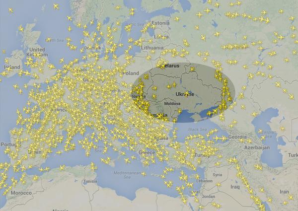 我国民航客机已经绕开乌克兰东部领空飞行