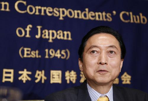鸠山由纪夫:日本政府表面批评亚投行 私下想加入