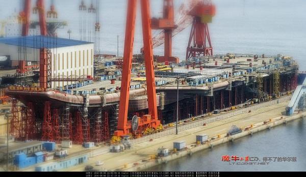 国产航母舰岛约60米长 两舱室空间比辽宁舰加大