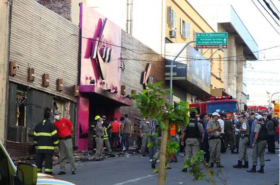 巴西夜总会火灾死亡人数修正为233人(图)