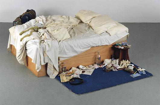前卫艺术品《我的床》将拍卖 估价120万英镑