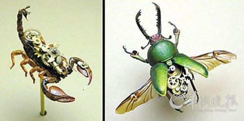 机械+昆虫=酷雕塑