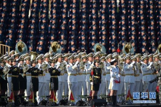 军乐团在阅兵式上