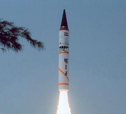 美媒称印度烈火导弹假想敌从巴基斯坦变为中国