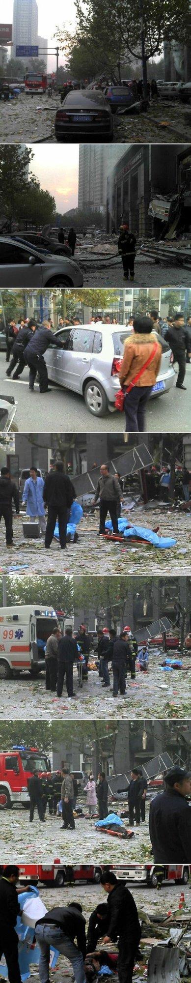 西安嘉天国际大厦爆炸 多名上学孩子被炸伤(图)