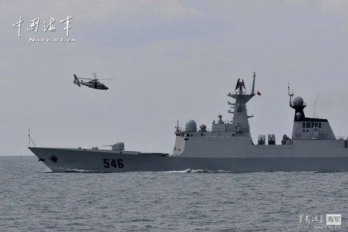 中国海军训练引日本担忧 我国防部批其庸人自扰