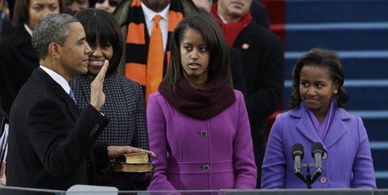 奥巴马公开宣誓就职