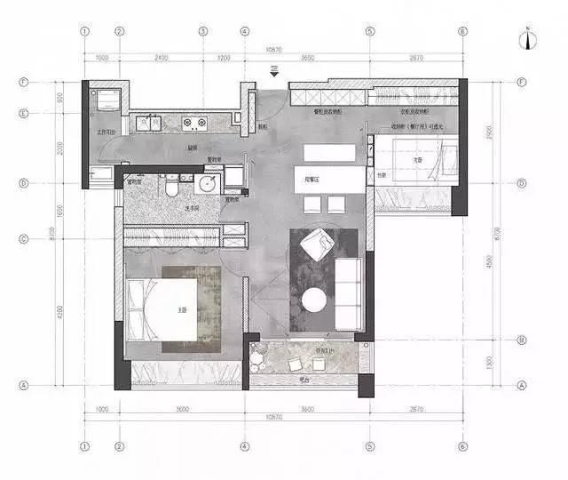 巧妙的利用结构的空位尽量增加足够多的收纳空间也是小户型的必修课