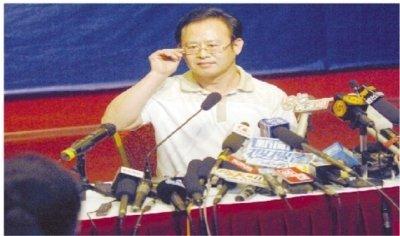 铁道部新闻发言人王勇平被停职