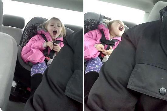 美国年轻奶爸故意唱错动画片的歌词,两岁女儿受刺激、高声抗议,场面颇为搞笑。