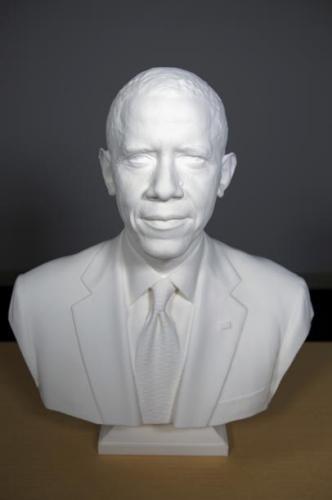 白宫展出奥巴马半身像 使用塑料3D打印制作
