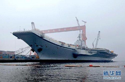 中国航母平台今日出海进行首次航行试验(图)
