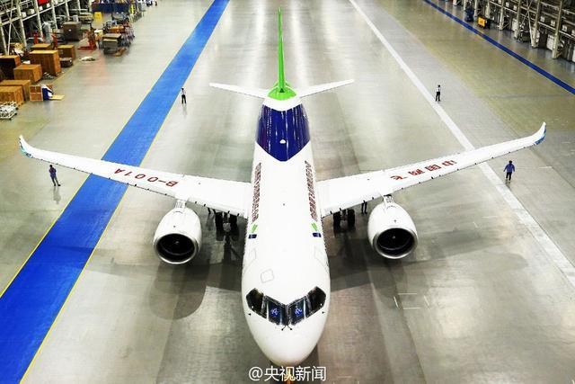 国产大型客机C919首架机总装下线 拟2016年首飞
