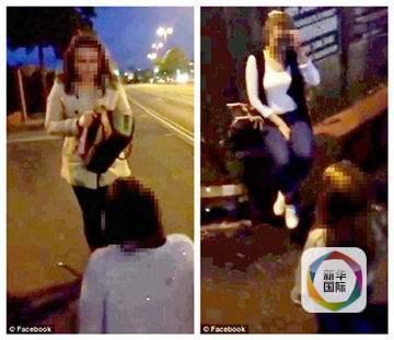 shaonvdebi_英国一少女当街被逼下跪 遭打脸被强迫脱鞋(图)
