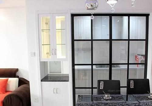 厨房玻璃隔断的选购及安装注意事项图片
