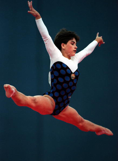1994年,丘索维金娜参加友好运动会自由体操比赛