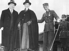 蒋介石持手杖