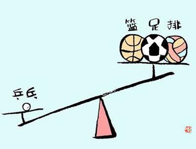 三大球的奖牌不及乒乓,体育局对其的投入也不及乒乓