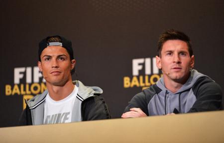 梅西和C罗出席FIFA活动