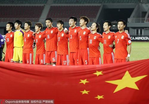 国青队参加缅甸亚青赛赛前合影