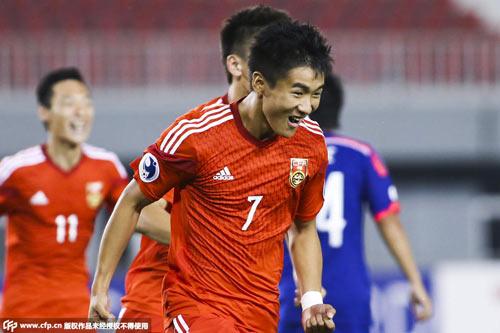 韦世豪梅开二度,国青2-1胜日本