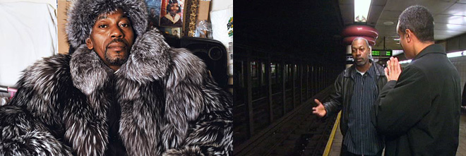 """被认为是""""地铁超人""""的卫斯理从皮草加身又回到普通的蓝领工人"""