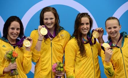 澳大利亚游泳队在伦敦奥运会上仅获得女子4*100米自由泳接力赛一枚金牌