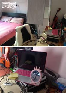 小米睡觉的房间也是她的工作场所