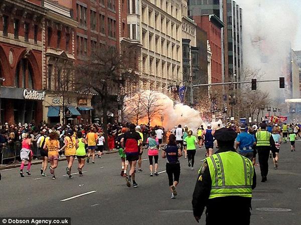 波士顿恐怖袭击爆炸现场