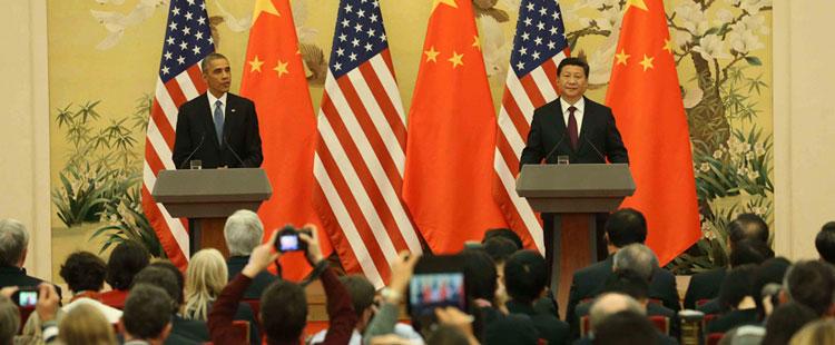 中美双方在一个月前出人意料地发布了《中美气候变化联合声明》