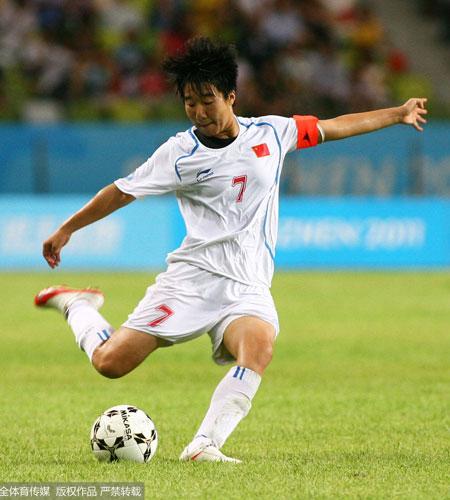 毕妍作为北师大学生参加了2011年大运会