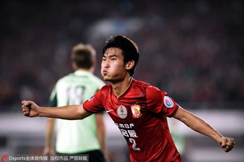 亚冠广州恒大3-1全北现代,廖力生庆祝进球
