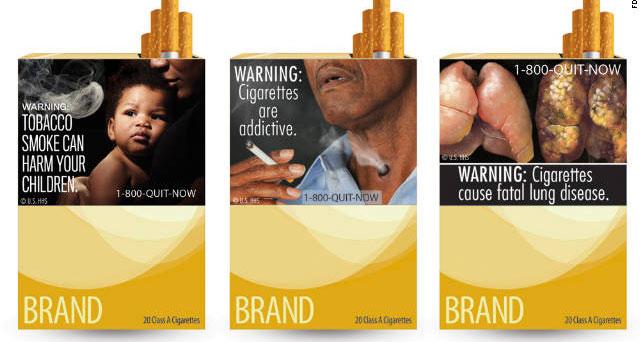 在世卫组织看来,在香烟包装上展示大幅健康警示是控烟的好办法