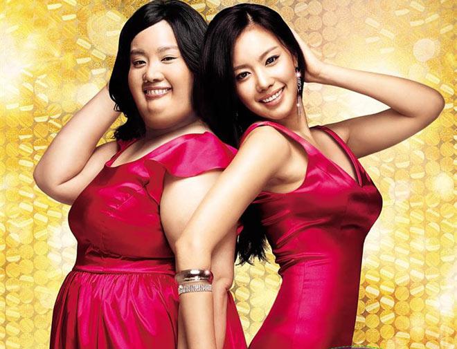 韩国影视作品在中国的风靡助推着赴韩整形热,图为韩国电影《丑女大翻身》海报