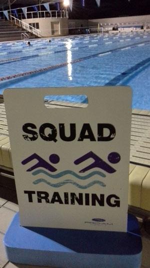孙杨团队预定的泳道(训练完后拍摄)