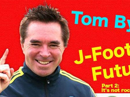 汤姆拜尔拍摄的足球普及节目在日本孩子最喜欢的动画时段播出