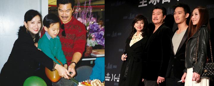 赵雅芝与家人在一起。