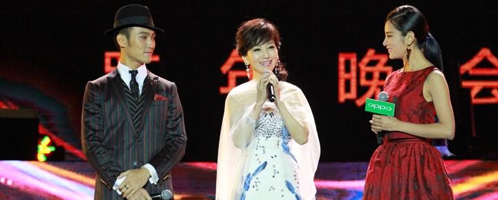 赵雅芝参加2014年浙江卫视跨年晚会。