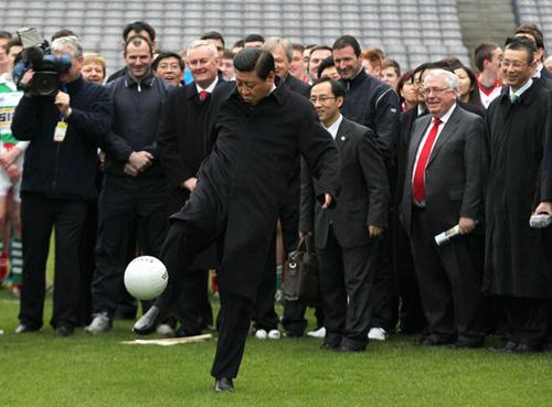 国人都知道习主席有一个足球梦