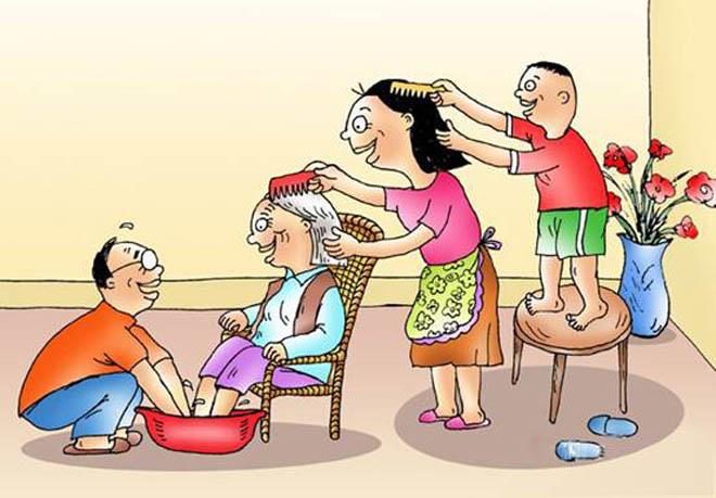 """传统的中国家庭养老是一种""""反馈模式"""""""