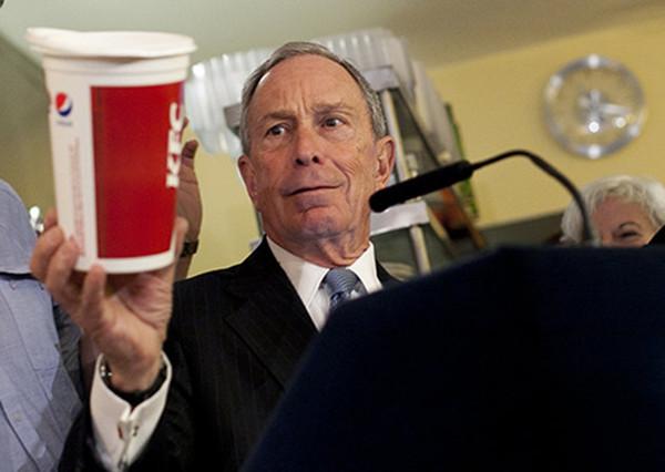 时任纽约市长布隆伯格欲禁止销售大杯含糖汽水