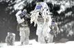 美军特种兵雪地演习 科幻值爆表