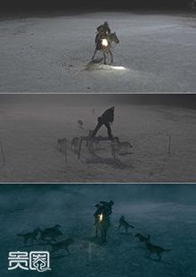 牧马人抵御狼群是如何拍成的