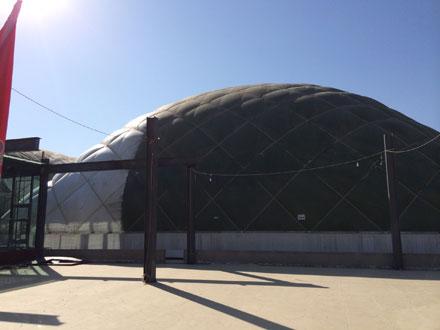 北京某气膜结构健身馆外景