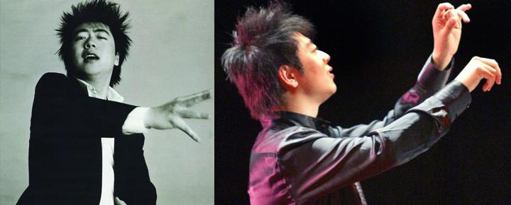 演出时,郎朗的发型会做得更有特点更阳光。