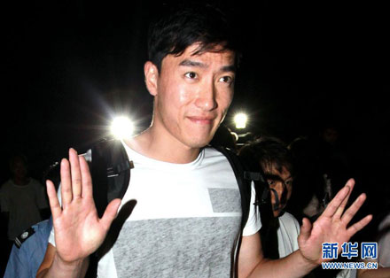刘翔结束美国治疗返回上海