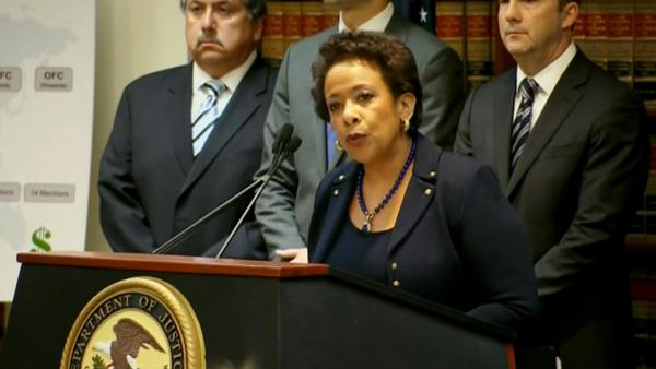 美国司法部长林奇声称,行动目的就是根除国际足联的腐败