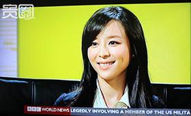 张静初接受BBC采访时表现出色