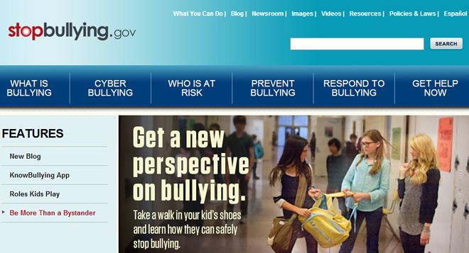 美国官方反校园欺凌网站,整个防控体系很完善了